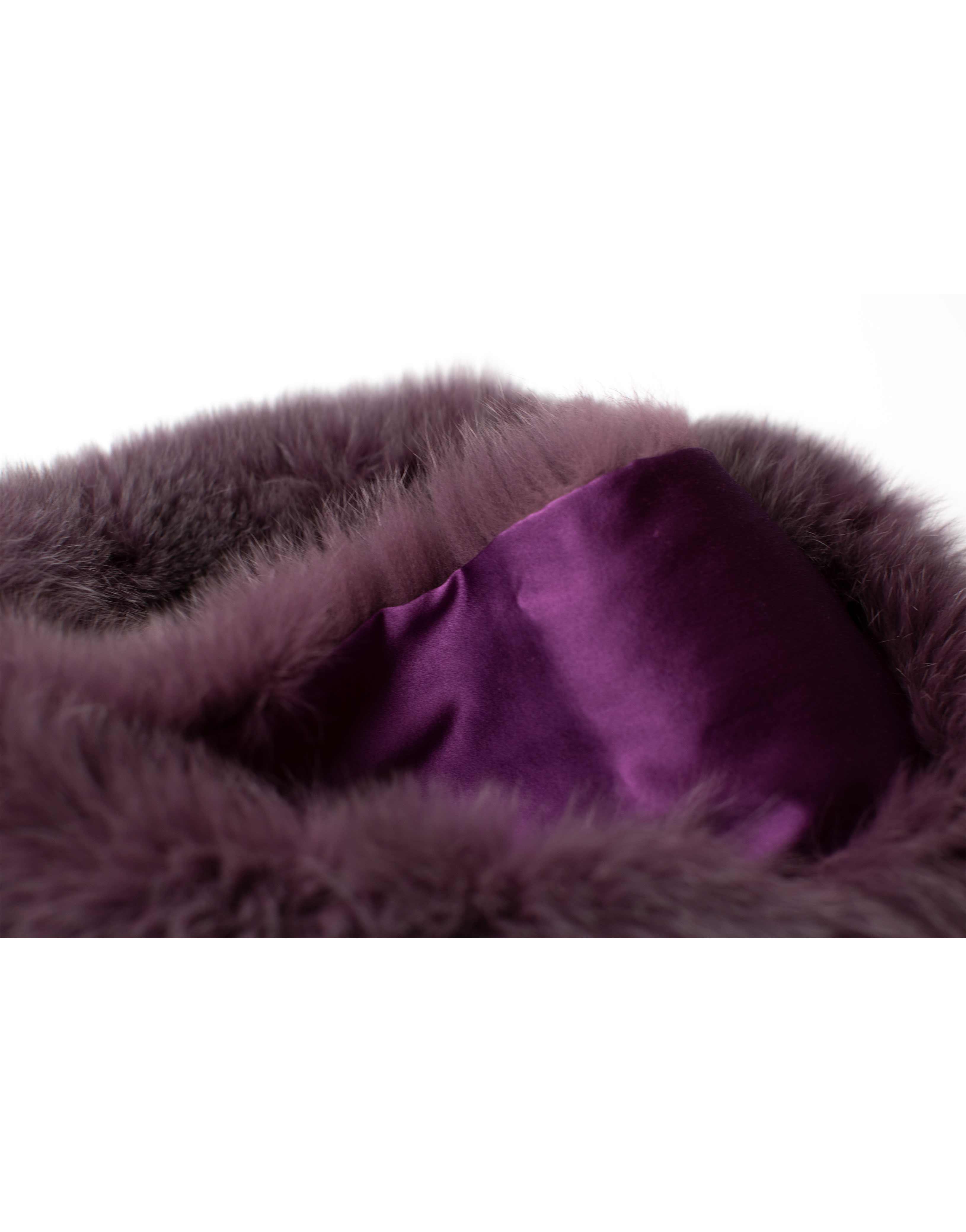Fur scarf, lila