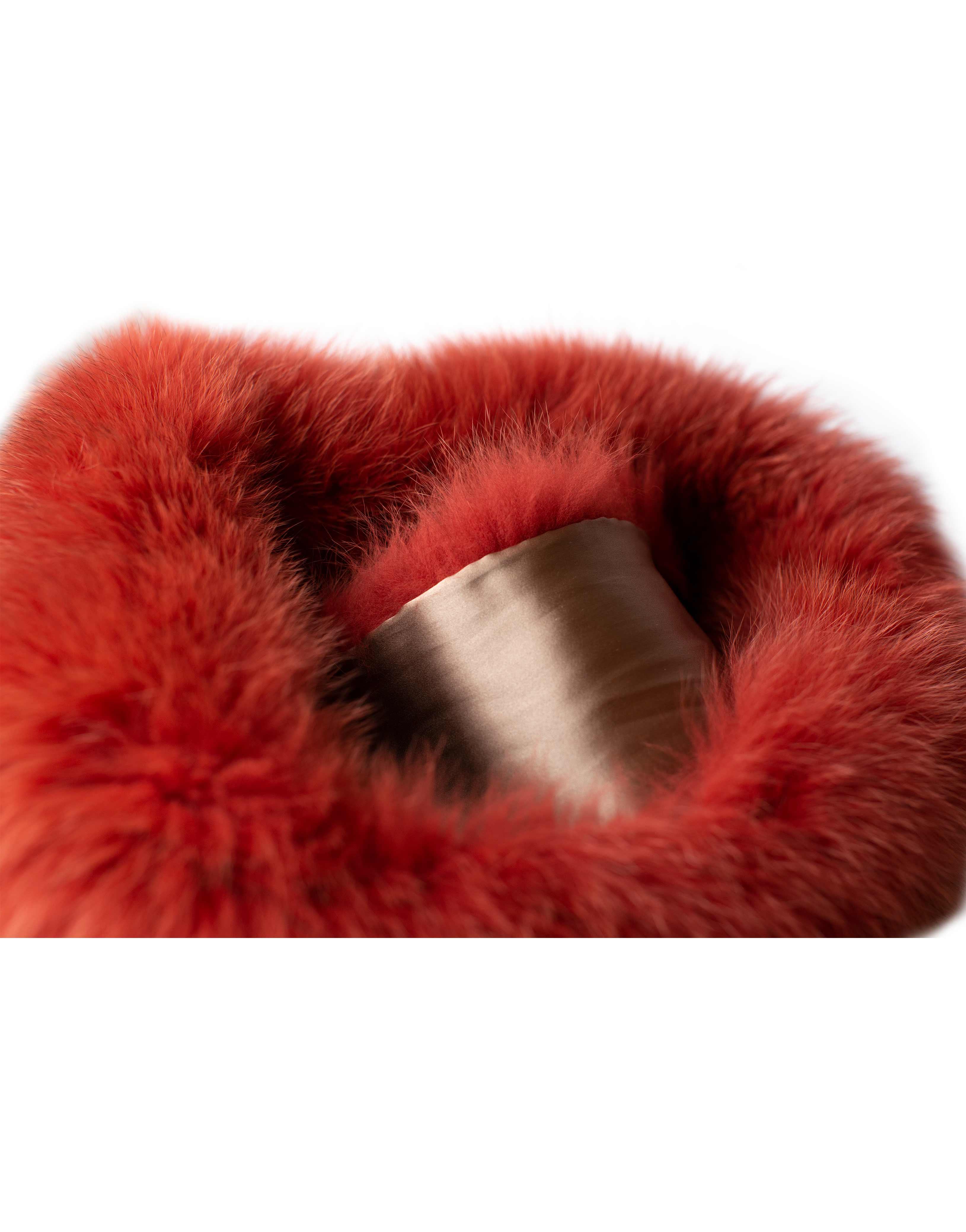 Fur scarf, orange