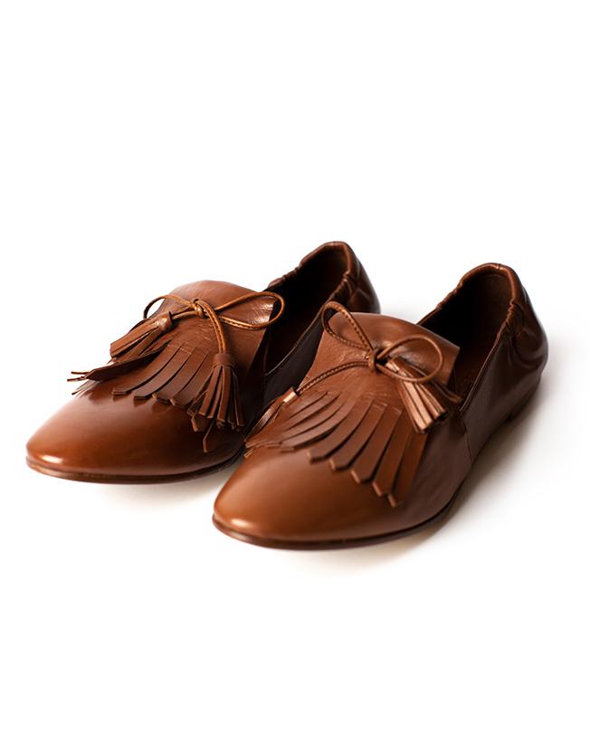 Slipper, mid brown