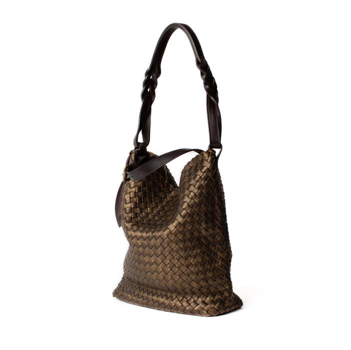 """Shopper """"Secchiello"""" Small, bronze"""