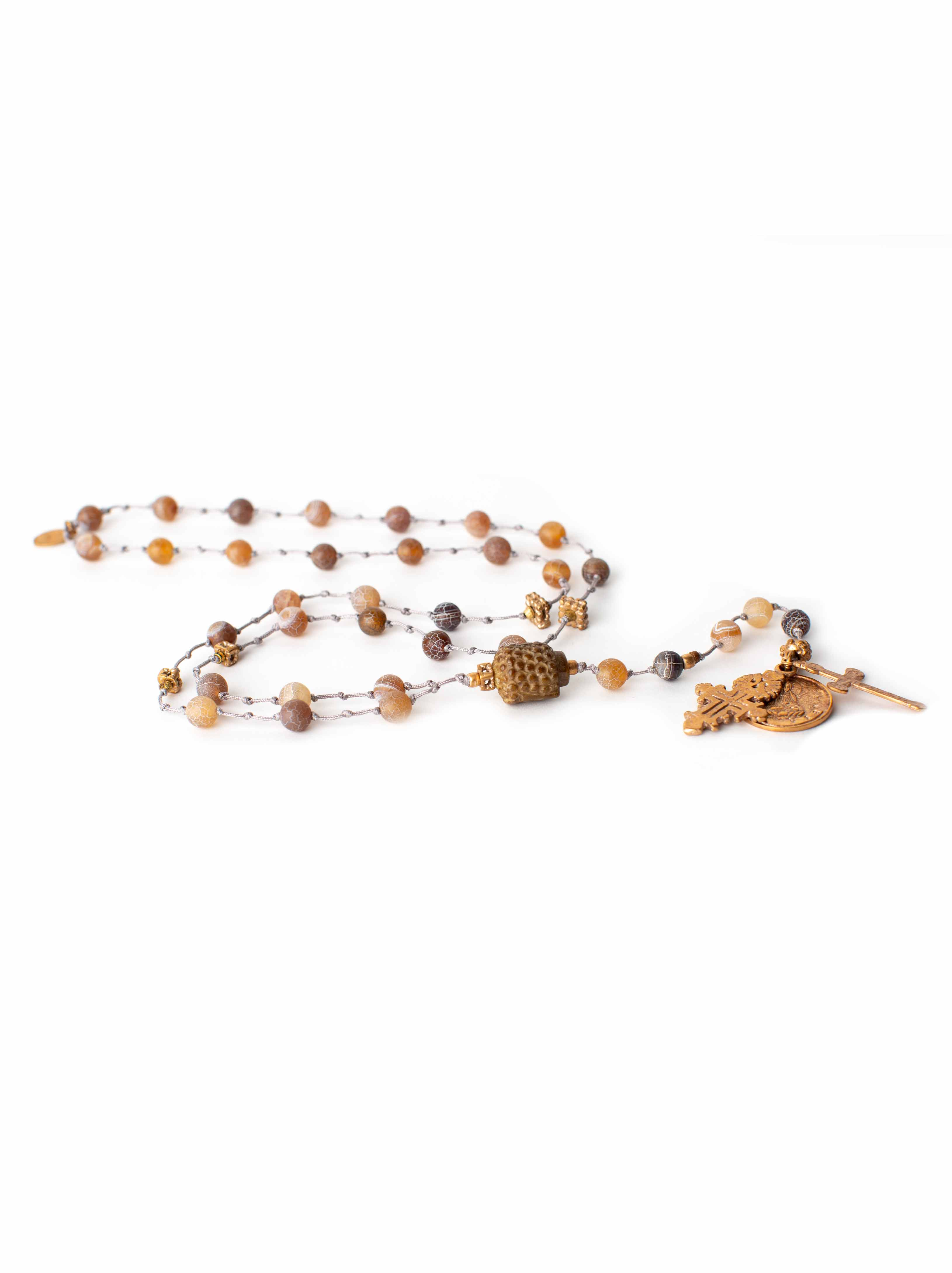 Jade and agate Rosary