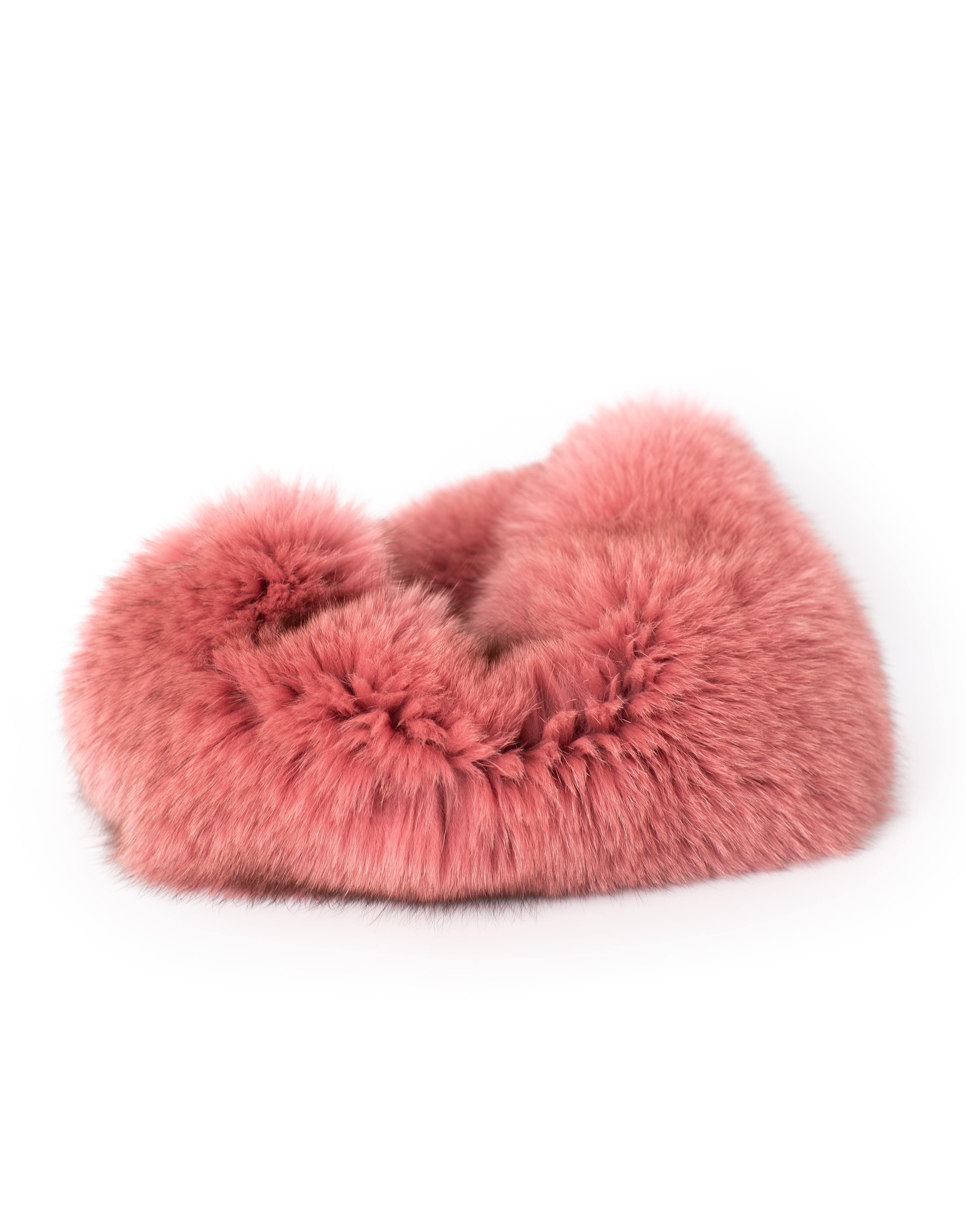 Fur scarf, pink