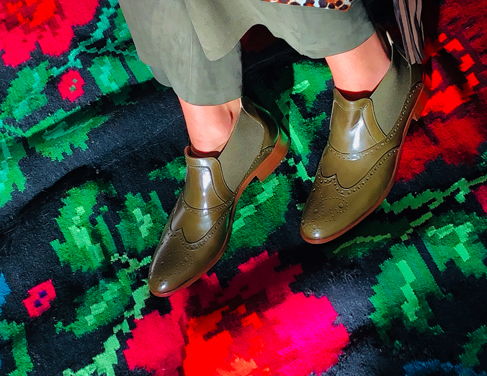 Extra Low Ankle Boots, olive