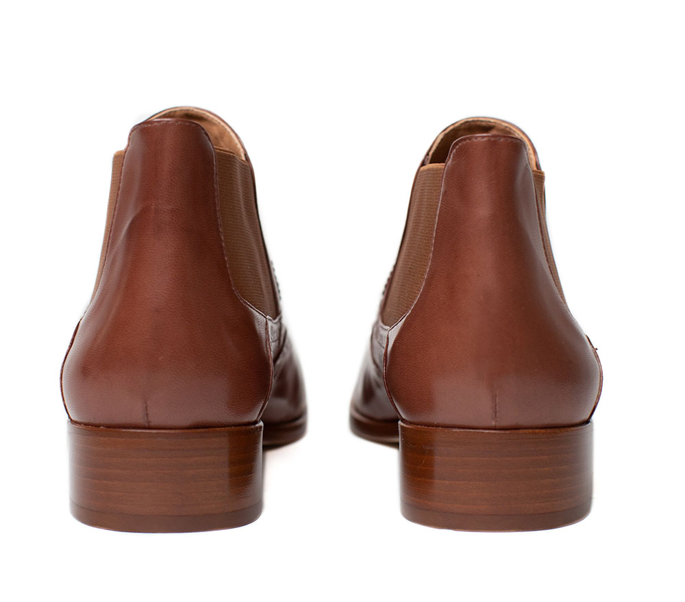 Extra Low Ankle Boots, cognac