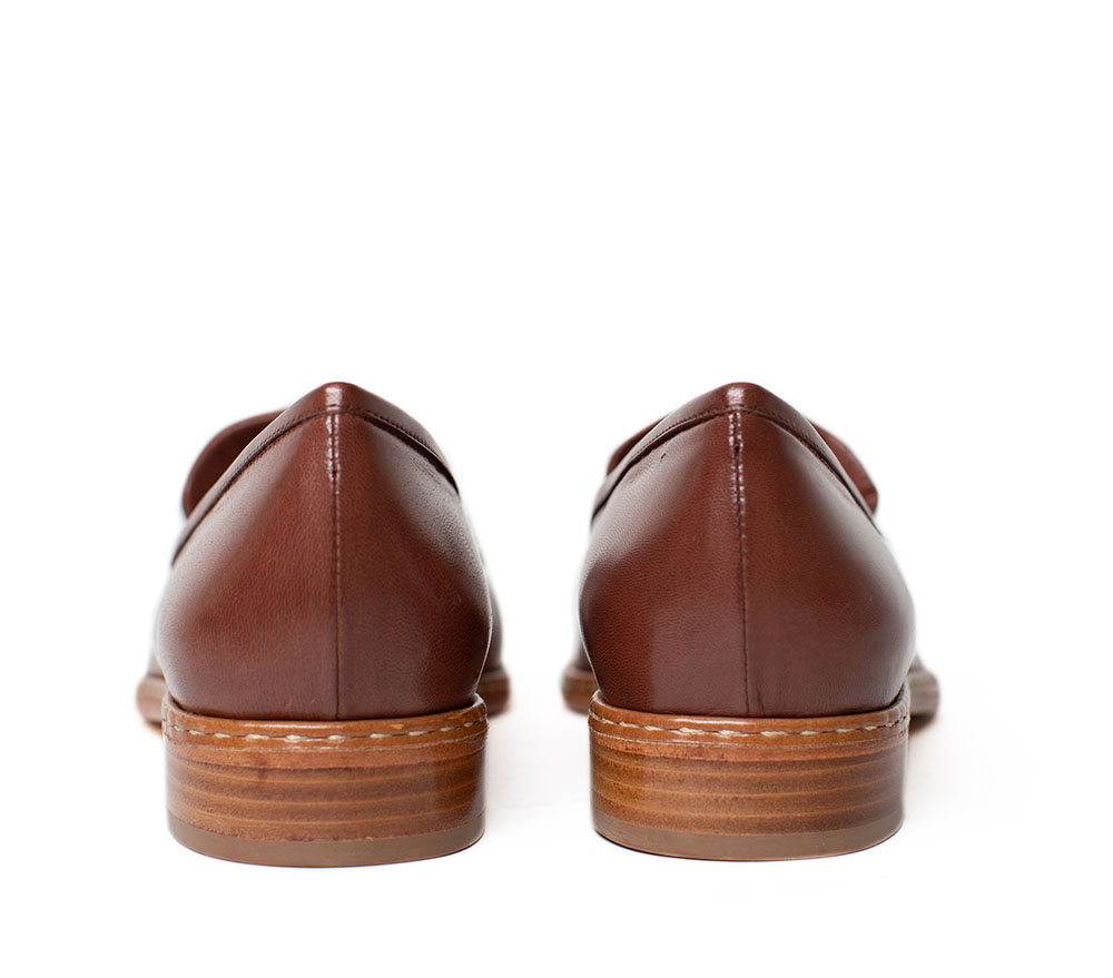 Leather Loafers, cognac