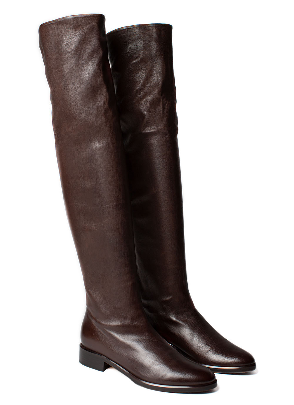 Overknee Boots Nappa leather, dark brown