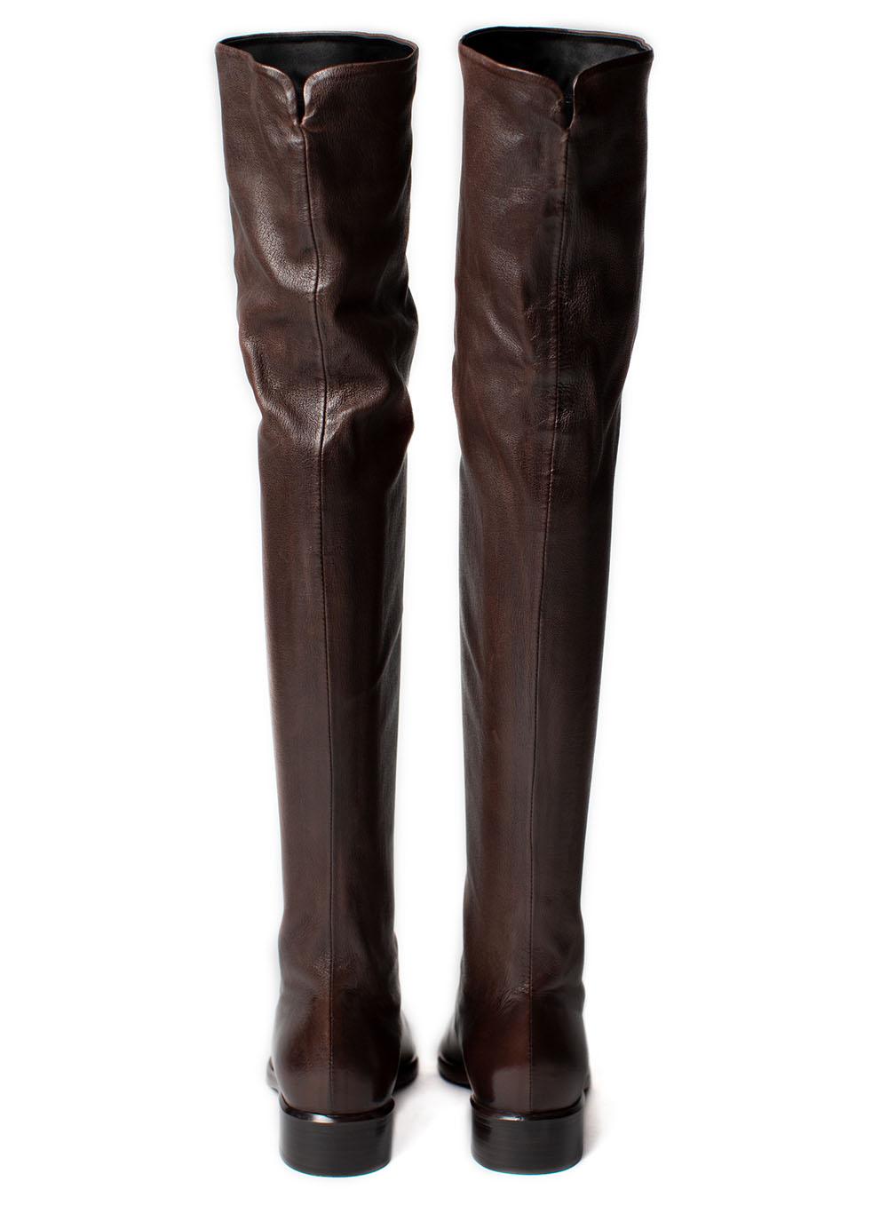 Overknee Boots Nappa leather, dark brown