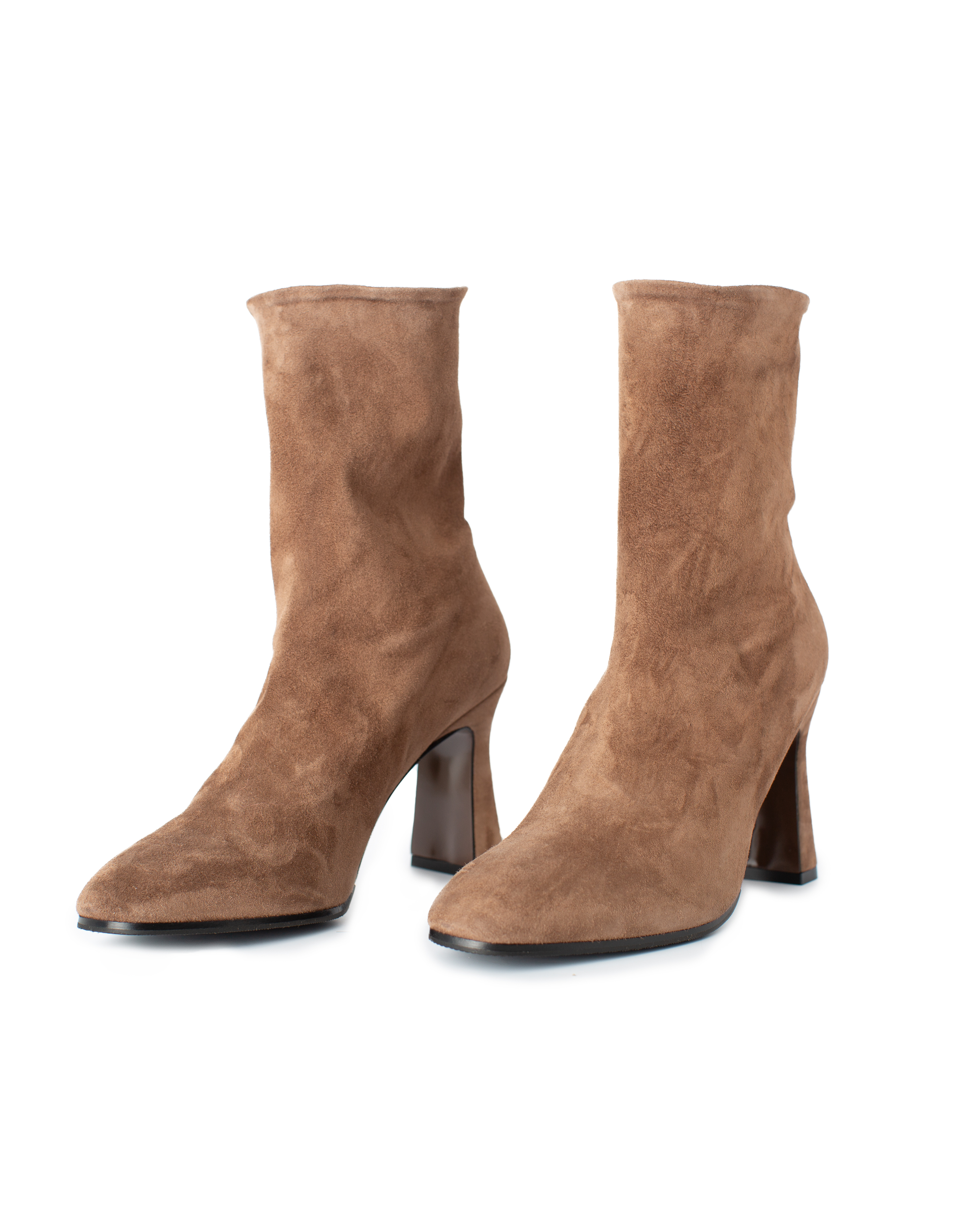 Suede Leather Boots, beige