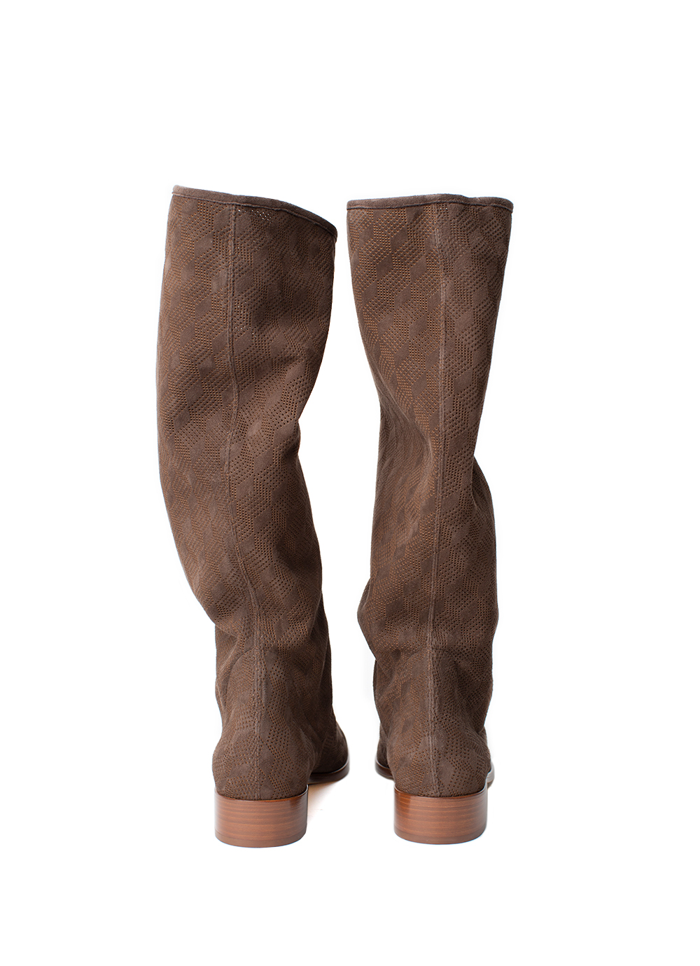 Lasercut Boots, brown
