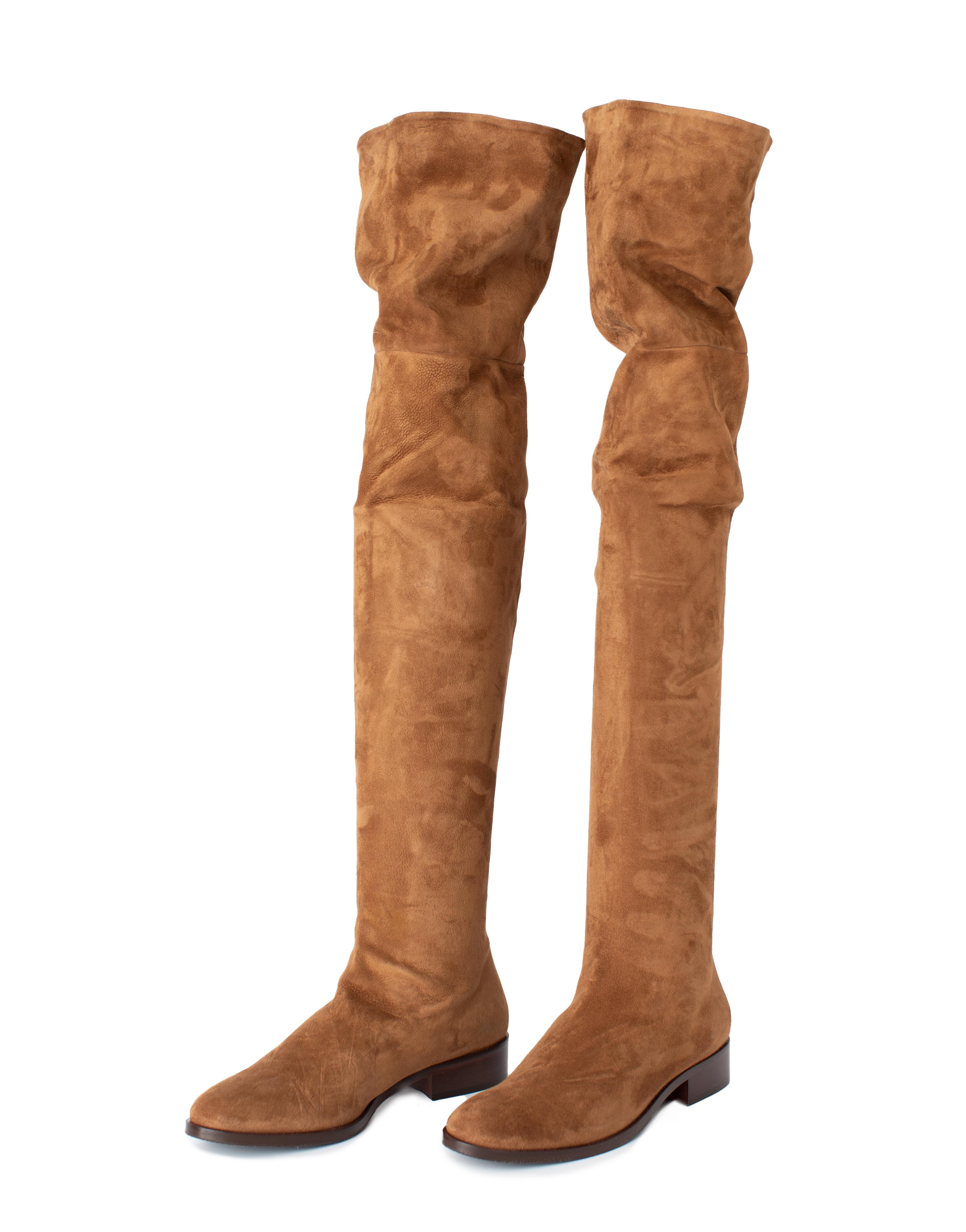 Overknee Boots Suede Leather