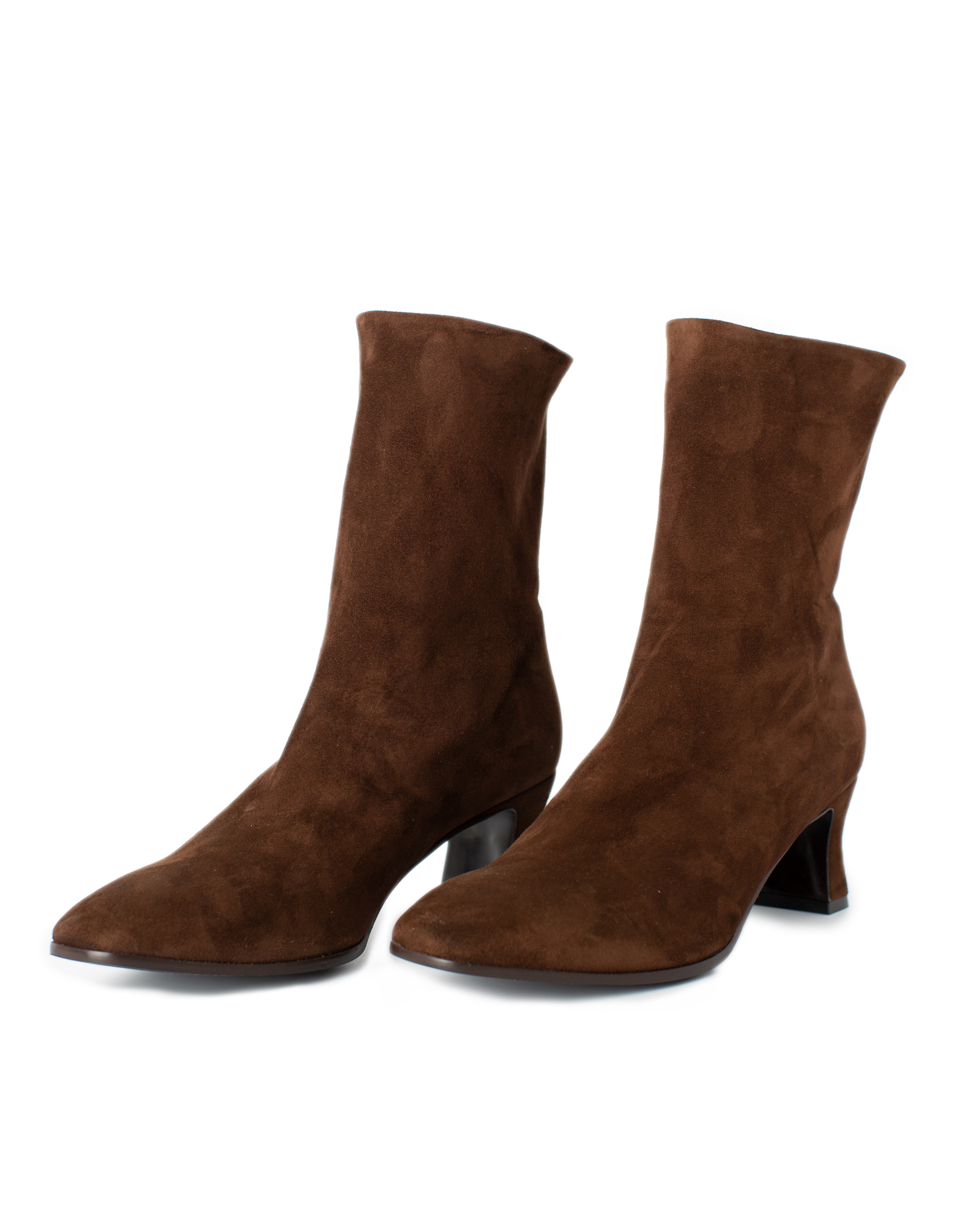 Suede Leather Boots, brown