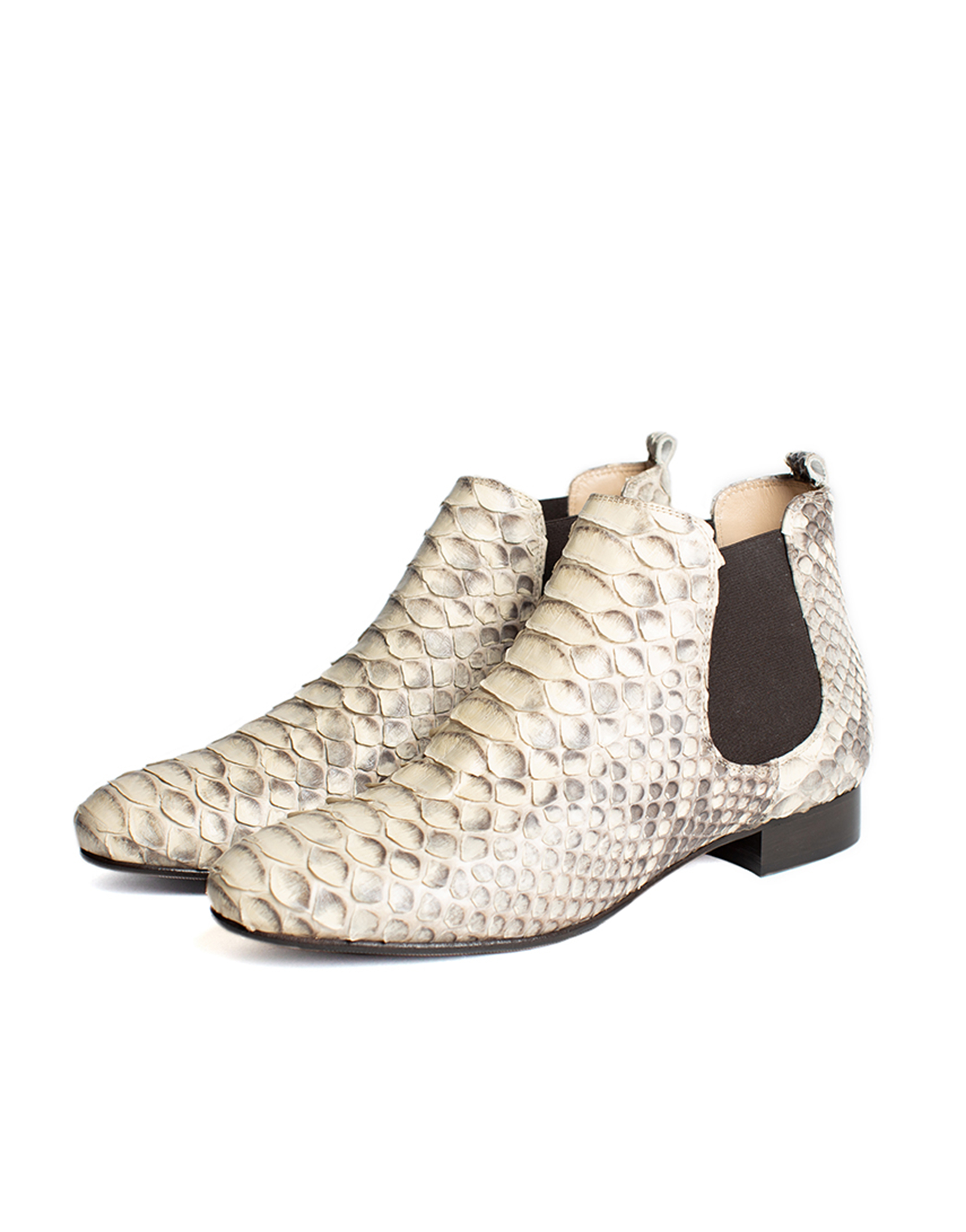 Extra Low Ankle Boots, python