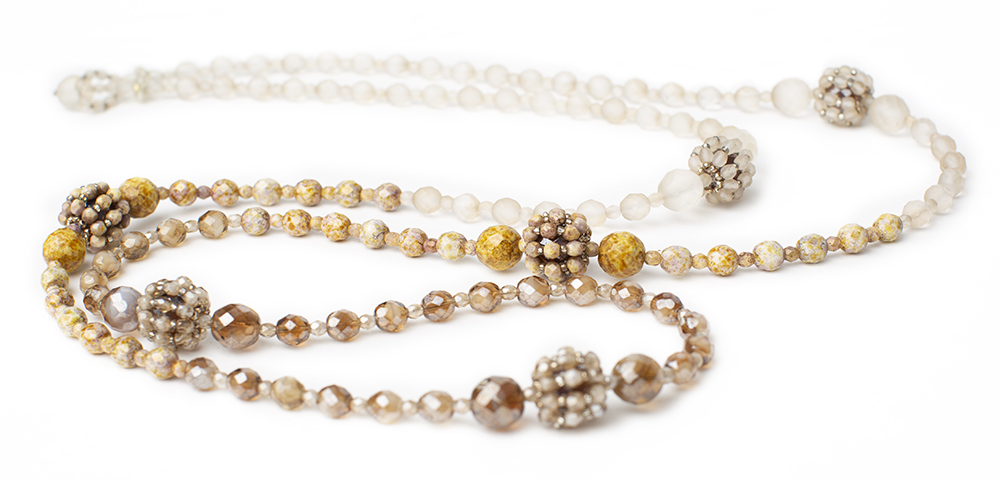"""Necklace """"Palline"""", crystal beads"""