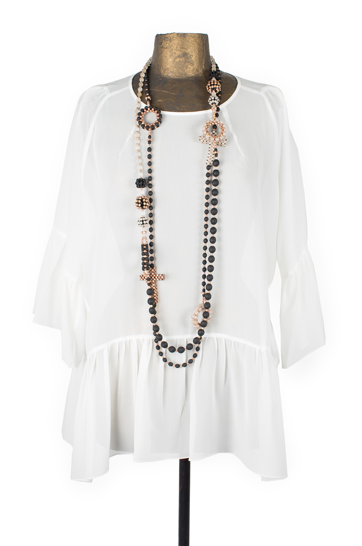 "Necklace ""Laguna"", crystal beads"