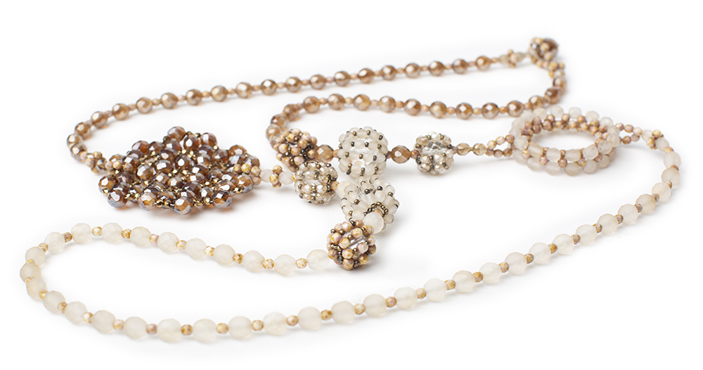 "Necklace ""Fiocco"", crystal beads"
