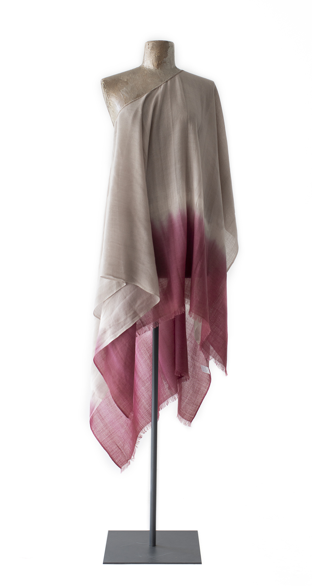 Poncho Tie-dyed, red