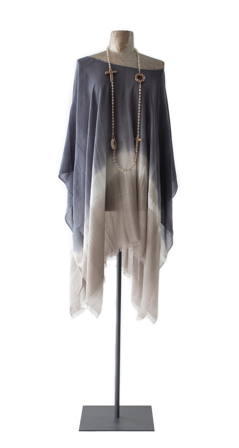 Poncho Tie-Dyed, blue