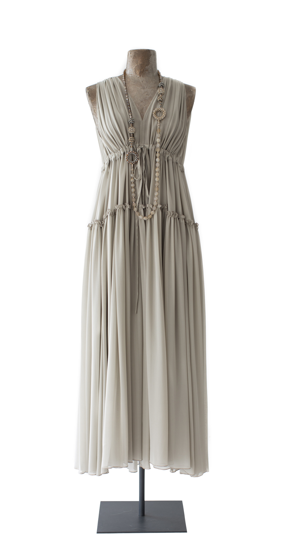 Silk Dress, taupe