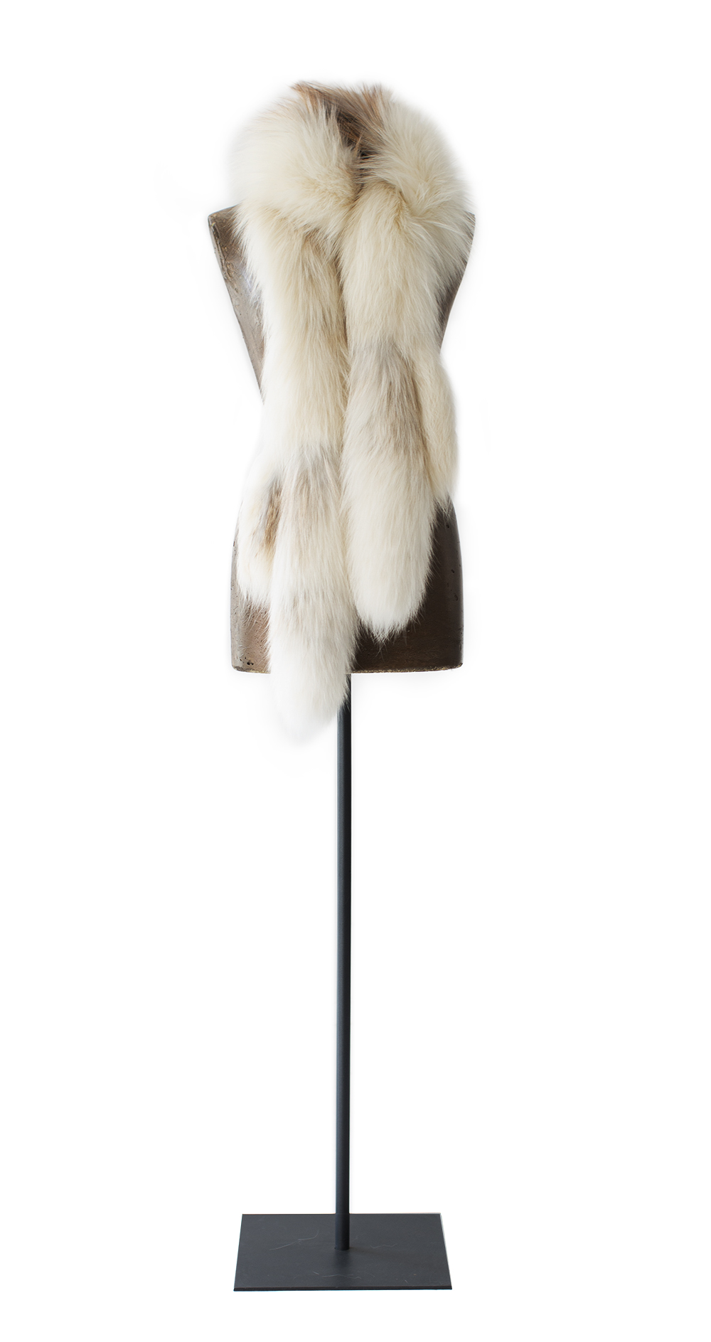 Fox Fur Stole, natural tanned